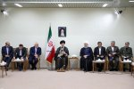 Leader of Islamic Revolution Ayatollah Seyyed Ali Khamenei meets with President Hassan Rouhani and Cabinet members in Tehran on Sunday.