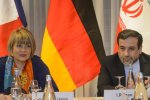 Secretary-General of European External Action Service Helga Schmid (L) and Iranian Deputy Foreign Minister Abbas Araqchi are in charge of the high-level Iran-EU talks.