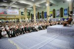 Ayatollah Seyyed Ali Khamenei addresses Basij volunteer forces in Tehran on Nov. 22.
