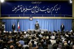 Ayatollah Seyyed Ali Khamenei addresses academics in Tehran on June 21.