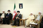 Ayatollah Seyyed Ali Khamenei meets members of the Assembly of Experts in Tehran on Sept. 21.