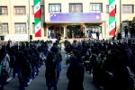 President Hassan Rouhani attends a ceremony in a Tehran school on Sept. 23 to ring in the new academic year.