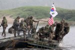 "S. Korea and the United States, which has about 28,000 troops based in S. Korea, say their exercises are ""defensive in nature."""