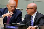 US Chief of Staff Kelly (L) and National Security Adviser McMaster