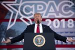 Donald Trump speaks during the 2018 Conservative Political Action Conference  at National Harbor in Oxon Hill, Maryland, on February 23.