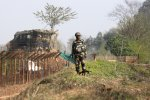 Nine people were also wounded across  the border in Pakistan-controlled Kashmir due to the shelling from India.