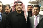 Prince Sultan bin Turki (C) is seen inside an aircraft before he was abducted by Saudi Arabian agents, on February 1, 2016.