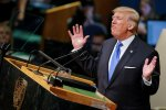 US President Donald Trump addresses the 72nd United Nations General Assembly at UN headquarters in New York,  on September 19.