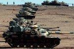 Turkish tanks have taken up position on the Turkish-Iraqi border.