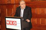 TCCIMA Secretary-General Bahman Eshqi speaking in Vienna on Nov.16