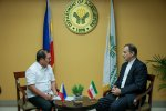 Iranian Ambassador to the Philippines Mohammad Tanhaei (R) met with Filipino Agriculture Secretary Emmanuel F. Pinol on Friday.