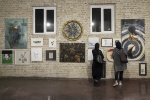 A view of the fundraising exhibit at Mojdeh Art Gallery in Tehran.