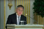 Kazuo Ishiguro giving his Nobel speech