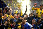 France team celebrate winning the World Cup.