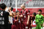 Wearing the number eight shirt, Iniesta attended a welcome ceremony at the J1 League club's home stadium in the city of Kobe.