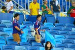 Japan supporters tidy up stadium following win over Colombia to cement reputation as best guests.