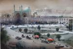 A watercolor painting by Kourosh Aslani