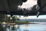 lava bomb crashed through the roof of the boat and into the vessel's seating area.