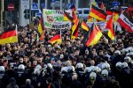 Far-right protesters demonstrate in Cologne, Germany, on Jan. 9, 2016. (File Photo)