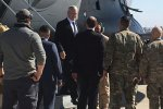 James Mattis arrives at Baghdad International Airport, Iraq, on Feb. 20.