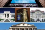 The Norges Bank, Fed, BoE, ECB and SNB collectively set borrowing costs for more than a third of the world economy.