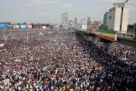 Ethiopians attend a rally in support of the new Prime Minister Abiy Ahmed in Addis Ababa, Ethiopia on June 23.