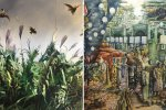 Artworks by Farzan Sadjadi (L) and Behrang Samadzadegan will be displayed by Shirin Gallery