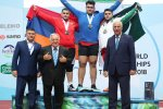 Ali Davoudi won the superheavyweight gold medal for Iran at IWF Junior Championships.
