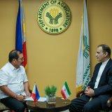 Iranian Ambassador to the Philippines Mohammad Tanhaei (R) met with Filipino Agriculture Secretary Emmanuel F. Pinol on Friday.