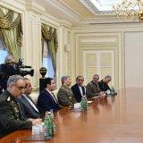 Defense Minister Meets Azeri President