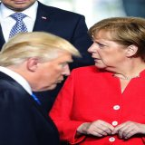 Angela Merkel has failed to establish a good personal rapport with the Donald Trump, and the mood music of her one-day working visit to the White House is likely to contrast sharply with that of Emmanuel Macron's three-day state visit.