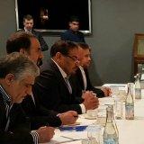 Iran's Supreme National Security Council Ali Shamkhani (3rdL) talks to his Russian counterpart, Nikolai Patrushev in Sochi.