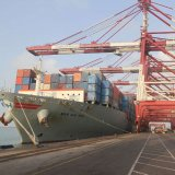 Shahid Rajaee Port is Iran's biggest container port at the mouth of the Strait of Hormuz.