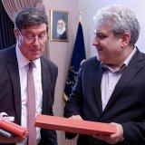 Sorena Sattari (R) met with Mauro dell' Ambrogio in Tehran on May 9.