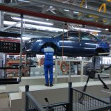 Sedan model Dena designed by Iranian engineers is manufactured at the Khazar production facility.