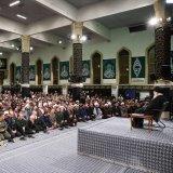 Ayatollah Seyyed Ali Khamenei addresses a meeting with people from East Azarbaijan Province in Tehran on Feb. 18.