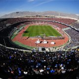 A fully-packed Azadi Stadium during a match between Esteghlal and Persepolis