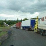 Turkish Trucks Lining Up on Border