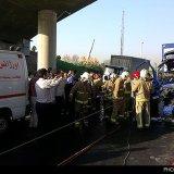 Two Hurt in Truck Crash