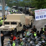 South Koreans Protest   Deployment of US Missiles