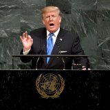 US President Donald Trump addresses the 72nd Annual UN General Assembly in New York on September 19.