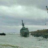 Stricken Destroyer Seriously Damaged
