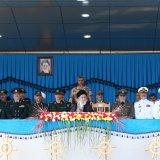 Leader of the Islamic Revolution Ayatollah Seyed Ali Khamenei attends a graduation ceremony for Navy cadets in Nowshahr, Mazandaran Province, on Sunday.