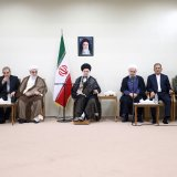 Leader of Islamic Revolution Ayatollah Seyyed Ali Khamenei meets with President Hassan Rouhani and his Cabinet in Tehran on Wednesday.