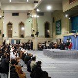 Ayatollah Seyyed Ali Khamenei addresses people from East Azarbaijan Province in Tehran on Feb. 15.