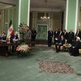 Iran and Sweden signed five agreements to boost economic cooperation in Tehran on Feb. 11.