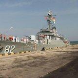 Naval Flotilla Docks at  Sri Lanka Port