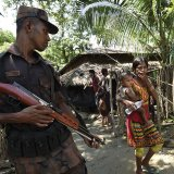 Refugees who crossed the border reported mass killings,  gang rapes and arson at the hands of Myanmar's army.