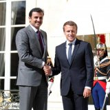 Macron Urges Lifting Qatar Embargo