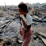 Hundreds of thousands of Rohingya are reported to have fled to neighboring Bangladesh in recent weeks, after evidence of the torching of entire villages, massacres and systematic rapes.